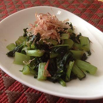 大根菜の炒め